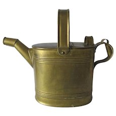 Antique English Brass Hot Water Kettle, Kitchen Accessory
