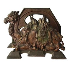 Antique Cast Iron Egyptian Revival, Camel Letter Holder