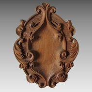 Lovely Hand Carved Architectural Element with Scrolls, Home Decor