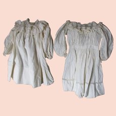 Two c1890s Toddler Dresses, Victorian, Edwardian Whites with Lace