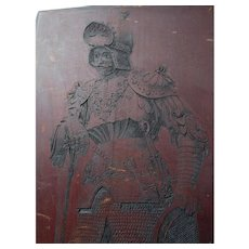 Antique Hand Carved Panel, Theoderic the Great, Italian Ruler, Roman Empire