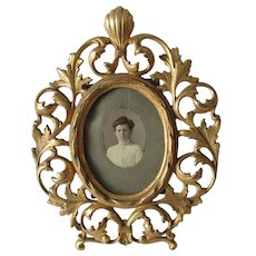 Lovely Antique Gilded Picture Frame, Vanity Mirror Frame