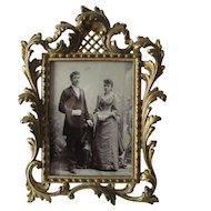 Petite French Rococo Edwardian Table Top Picture Frame