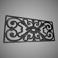 Antique Architectural Cast Iron Decorative Grate, Garden Accessory
