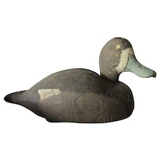 Vintage Hand Carved Duck Decoy from Lake Ontario, NY, Folk Art
