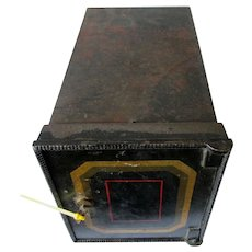 Antique Cast Iron Wall Safe, Strong Box with Key