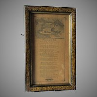 Rare Circa 1883 Broadside,  Ohio Flood in Wabash, Maumee