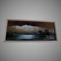 Antique Impressionist Landscape, Original Pastel