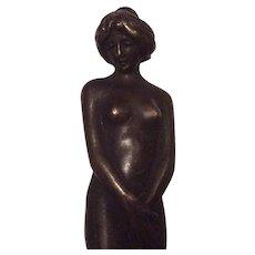 Antique Art Nouveau Nude Wax Letter Seal, Desk Accessory