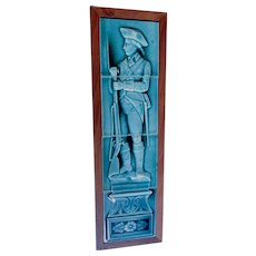 Antique Art Pottery Tiles with Revolutionary War Soldier