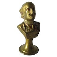Antique Austrian Bronze Wax Letter Seal, French Writer Edmond Rostand
