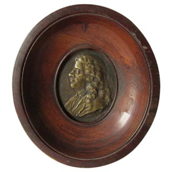 Antique Miniature French Plaque of a King