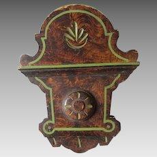 c1880s Victorian Cottage Architectural Element, Original Grain Paint