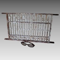 Antique Architectural Cast Iron Grate, Window or Garden Decor