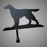 Big Vintage Sheet Metal Weathervane of an Irish Setter Dog