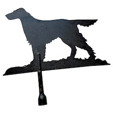 Big Vintage Sheet Metal Weathervane of an Irish Setter Dog