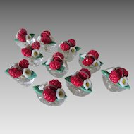 Set of 10 Art Deco Place Card Holders, Flower Baskets, Czechoslovakia