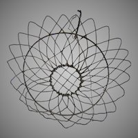 Antique Wireware Hanging Basket with Sunflower Motif