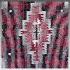 Rare Twill Pattern Navajo Native American Indian Rug