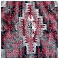 Rare Twill Pattern Navajo Native American Indian Rug
