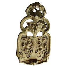 Antique Bronze Desk Top Paperclip, Letter Clip Northwind or Gargoyle Face