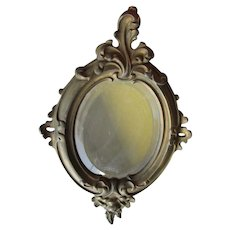 Antique 19thC French Rococo Mirror, Victorian Picture Frame