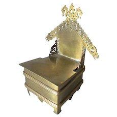 Antique Russian Salt Box, Figural Chair, Throne