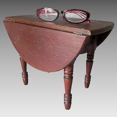 Antique Miniature Drop Leaf Table, Salesman Sample Doll Furniture