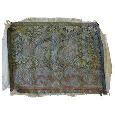 Fine 19thC Antique Needlepoint Tapestry with Gargoyle, Mythological Motif