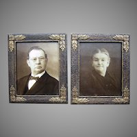 Nice Pair of Antique Arts & Crafts, Mission  Picture Frames