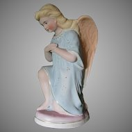 Victorian Bisque Porcelain Angel Figurine, Edwardian, European