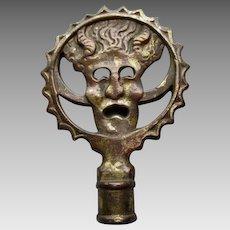 Horned Satyr Lamp Finial by Oscar Bruno Bach, German Artist