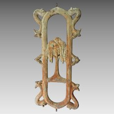 Antique c1860s Cast Iron Architectural Fragment, Weeping Willow 2