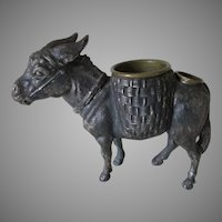 Antique Figural Match Safe of a Donkey or Mule, Desk Accessory