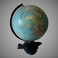 c1946 Weber Costello WWII Air Plane Base Aviation World Globe
