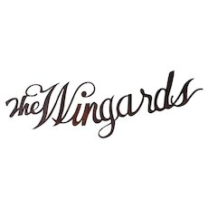 Vintage Architectural Iron Sign  The Wingards, Folk Art