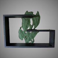 Elegant c1920s Art Deco Shelf with Palm Leaf Motif