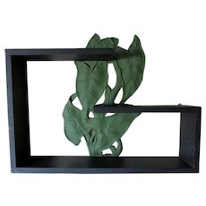 Elegant c1920s Art Deco Shelf with Palm Leaf Motif
