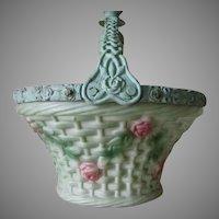 Lovely Antique Art Nouveau Rose Basket Chandelier Light Fixture