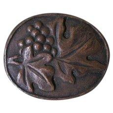 Antique Arts & Crafts Bronze Brooch, Designer, Studio Jewelry