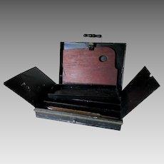 Antique 19thC Tin Artist, Painters Box, Original Japanned Finish
