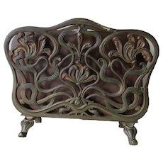 Antique Art Nouveau Desk top Letter Holder, File Holder