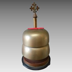 Antique 19thC Victorian Ecclesiastical Gothic Double Bell