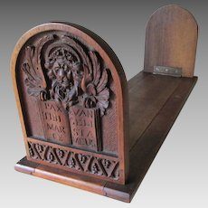 Antique Hand Carved Italian Bookends, Gondola, Lion, Motto of Venice