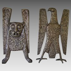 Art Deco, Mid Century Bronze Architectural Elements, Bird & Gargoyle, Winged Lion