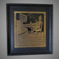 Antique c1903 Arts & Crafts Motto Plaque by Nash