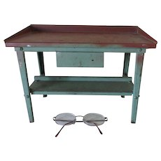 Miniature Salesman Sample Work Bench, Metal Tool Holder