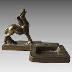 Frankart Art Deco Horse Tray, Vanity, Desk Accessory, Ashtray