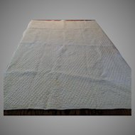 Antique White on White Hand Sewn Childs Quilt
