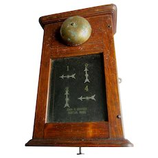Antique Victorian, Edwardian Oak Servants Bell, Call Box